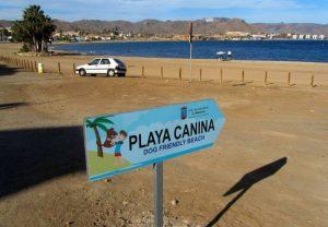 Señal de la playa El Gachero