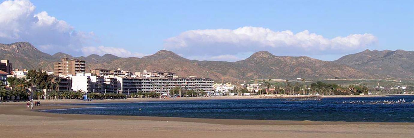 Vista de una de las playas de Mazarrón