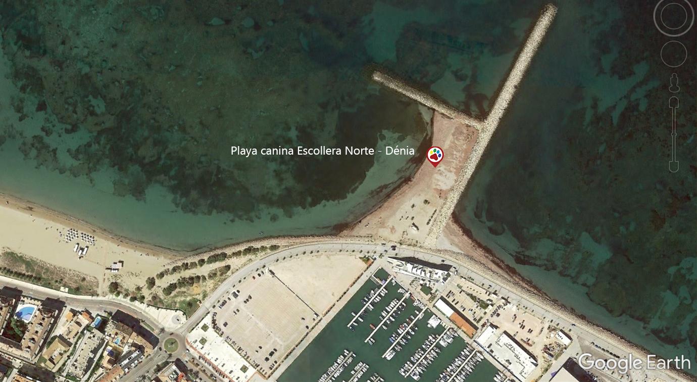 Vista aérea de la Playa de la Escollera Norte -Denia