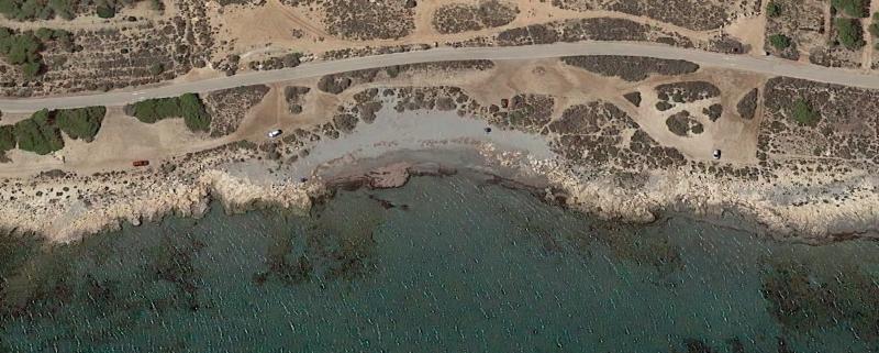 Vista aérea de Playa La Calete dels Gossets