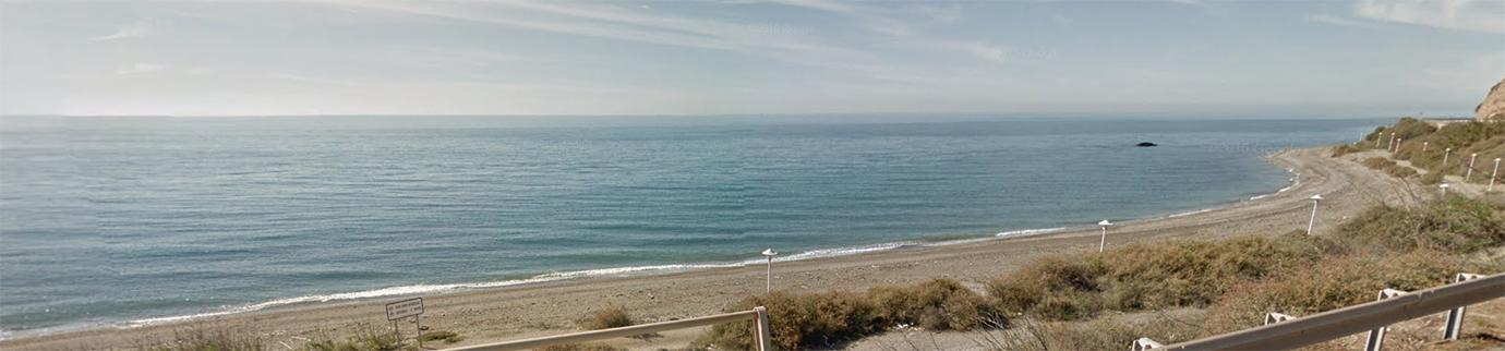 Vista de la playa canina La Rana