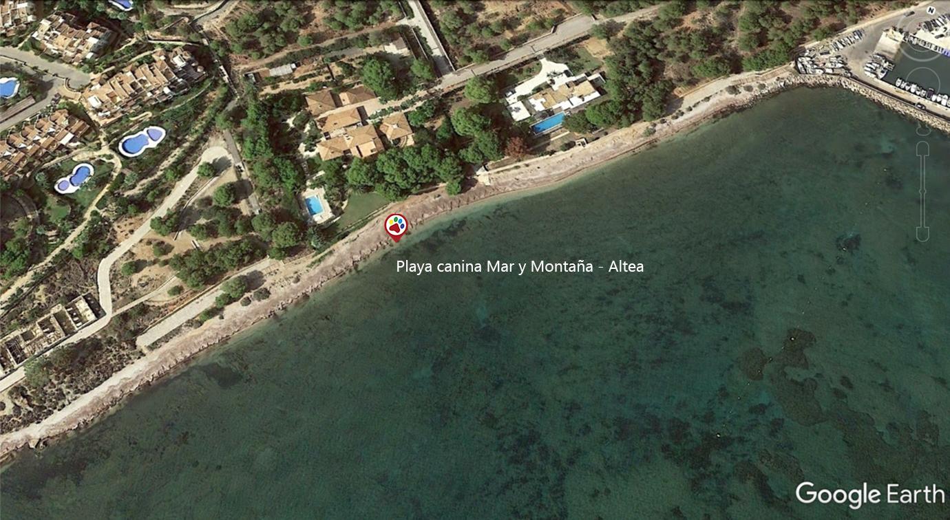 Vista aérea Playa Mar y Montaña