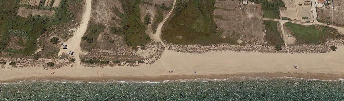 Vista aérea de la Playa El Brosquil - Cullera