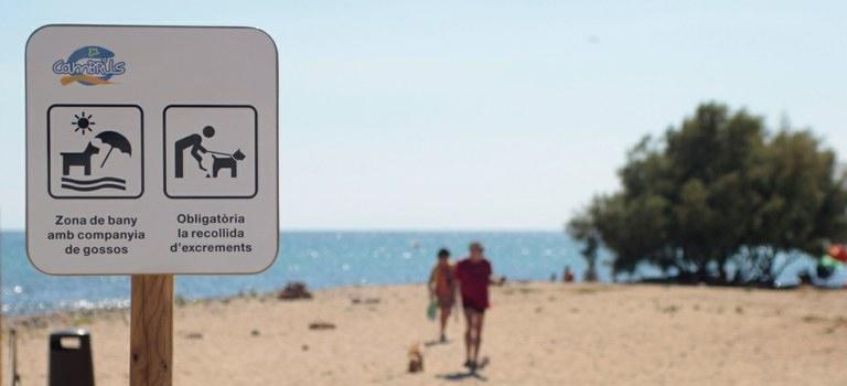 Cartel de la Playa Riera D'Alforja
