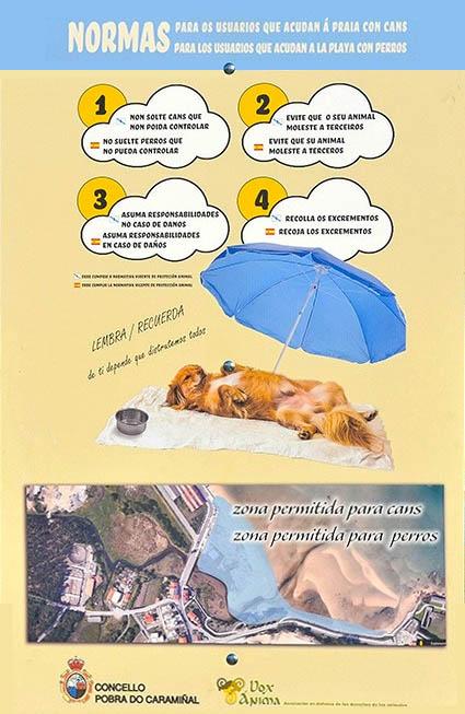 Playas para perros - A Coruña - A Proba do Caramiñal - Playa Arenal