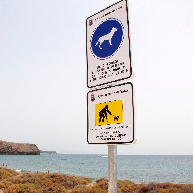 Playa las Coloradas - Playa para perros - Lanzarote - Horarios