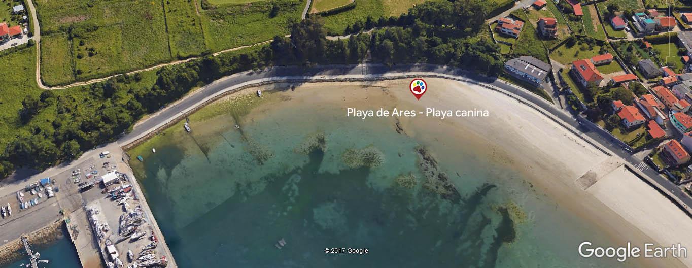 Playas para perros - A Coruña - Ares - Playa de Ares